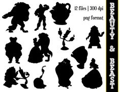 Beauty & the Beast Silhouettes // Disney by SparkYourCreativity, $6.00