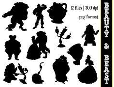Beauty & the Beast Silhouettes // Disney by SparkYourCreativity