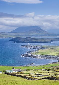 View From Valentia Island To Iveragh Peninsula, Ring of Kerry, Ireland