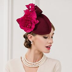 Women's Feather / Flax Headpiece-Wedding / Special Occasion / Casual Fascinators / Hats 1 Piece Yellow Oval None – USD $ 30.99