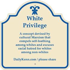 White privilege I think that they consider it privilege enough just to actually be white - it is somehow inherent in the color of your skin, just as being racist is also an inherent implication.
