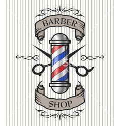 Barber shop emblem on VectorStock