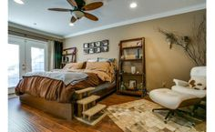 Fun master bedroom