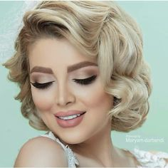 Dramatic Wedding Makeup, Bridal Makeup Looks, Classic Hairstyles, Bride Hairstyles, Front Hair Styles, Curly Hair Styles, Maroon Makeup, Bridal Hair Buns, Glamour Hair