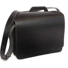 XL-Leder-Aktentasche mit einem extra 15-Zoll Laptop-Reißverschlussfach. Jahn-Tasche Modell 676 in Schwarz. 149,00 €