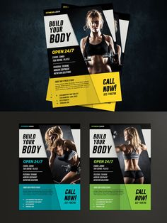 Fitness Flyer by vynetta on Envato Elements Banner Design, Flyer Design, Gym Mirrors, Real Fit, Fitness Flyer, Rollup Banner, Wordpress Theme Design, Web Design Services, Business Design