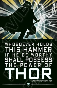 Marvel Avengers Quote Poster Thor