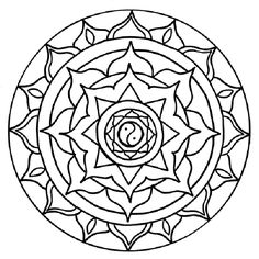 chakra mandala printable coloring pages - photo#12