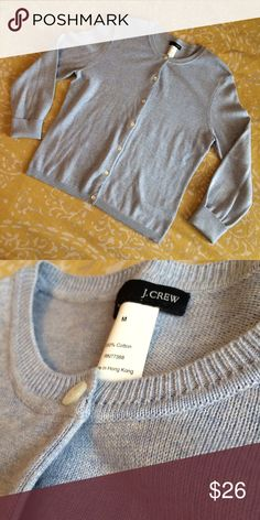 J Crew baby blue cardigan sweater sz M Perfect cardi for this fall. Soft baby blue color. Smoke free pet free home J. Crew Sweaters Cardigans