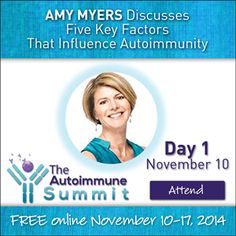 My favorite speaker for Day One of the Autoimmune Summit is Dr. Amy Myers.  Amy is the host of this free online event and she provides an excellent introduction for someone new to the topic of autoimmune disease. Read the highlights from Day 1 at KristineHall.com