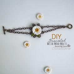 Mod Podge Mod Melts Bracelet Tutorial @Plaid Crafts from @savedbyloves #ModMelts