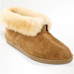 Men's Minnetonka Sheepskin Ankle Boot Slippers