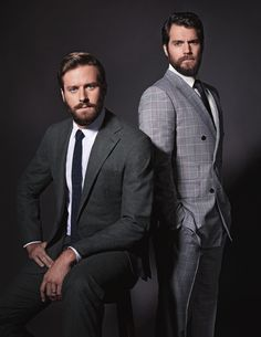 Armie Hammer and Henry Cavil for Cosmopolitan Russia August 2015 -The Man from U.N.C.L.E.