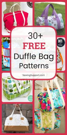 Over 30 Free Duffle Bag patterns, tutorials, and diy sewing projects. Sew large bags great for weekend travel, kids, and sports. Both round and square styles. sew einfach clothes crafts for beginners ideas projects room Diy Sewing Projects, Sewing Projects For Beginners, Sewing Hacks, Sewing Tutorials, Sewing Tips, Bag Tutorials, Sewing Ideas, Duffle Bag Patterns, Diaper Bag Patterns
