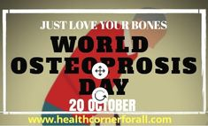 World Osteoporosis Day is observed annually on October and launches a year-long campaign dedicated to raising global awareness of the prevention, diagnosis and treatment of osteoporosis and metabolic bone disease. Bone Diseases, Global Awareness, Bone Health, Metabolism, Just Love, Raising, Campaign, October, World