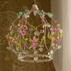 Your place to buy and sell all things handmade Wire Crafts, Decor Crafts, Fun Crafts, Diy And Crafts, Wire Chandelier, Chandeliers, Jewelry Hanger, Upcycled Home Decor, Christmas Embroidery