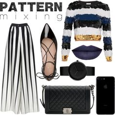 How To Wear Fall Pattern Mixing Outfit Idea 2017 - Fashion Trends Ready To Wear For Plus Size, Curvy Women Over 20, 30, 40, 50