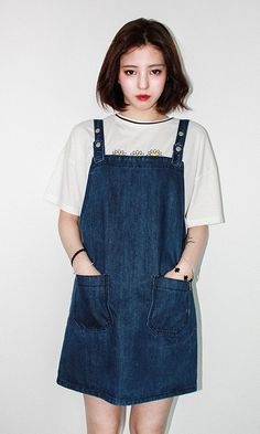 BASIC DENIM DRESS JUMPER