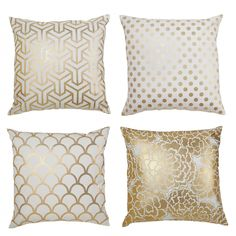 gold foil pillows - Gold Decorative Pillows