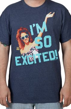 "Saved By the Bell Im So Excited Jessie Shirt - good idea for ""joke gift"" exchange this year - $22"