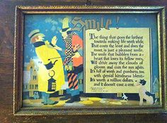 Buzza 1925 Smile  This is the placard my grandmother gave to me when I one best smile in 8th grade. For GrandBox #smile is just something way say to sell boxes, it's what we really want the loved ones in our life to do :) Thanks for your support.