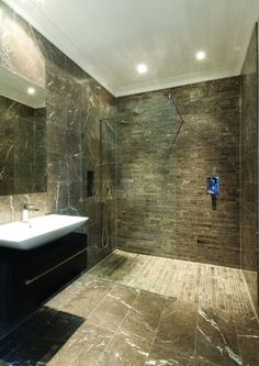 Wet Room Design Ideas If you are thinking about ways to spruce up your interior then you should look into wet rooms. What is a wet room you ask? Simple: its a new approach to bathroom design in which there is no tub shower screen or tray. Wet Room Bathroom, Simple Bathroom, Bathroom Ideas, Bathroom Renovations, Bathroom Inspiration, Shower Ideas, Over The Top, Wet Room Installation, Small Wet Room