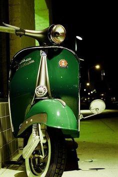 vespa green- scooter