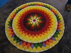 Rangoli Designs Flower, Flower Rangoli, Kolam Designs, Pookalam Design, Flowers, Indian Style, Libraries, Diys, Home Decor