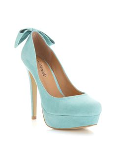 Mint Bow Pumps