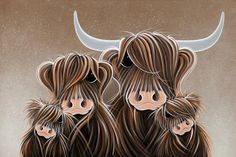 The Four Moosketeers by Jennifer Hogwood. Available from Artworx Gallery, Shropshire, UK. www.artworx.co.uk