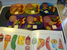 A Very Hungry Lunch, inspired by Eric Carle's Caterpillar.  Summer 2011