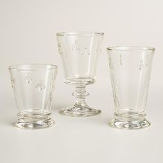 Reminiscent of French bistro ware, our Bee Glassware collection is made in France by La Rochere, a family-run company that has been producing glassware for more than five centuries. >> Spring Home Decor Bee Glasses, Spring Home Decor, Decorated Jars, Affordable Home Decor, World Market, Own Home, Cool Kitchens, Unique Gifts, Sweet Home