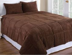 Newpoint Microplush Corduroy Twin Comforter Mini Set, Chocolate NEWPOINT CORPORATION,http://www.amazon.com/dp/B004GJXD28/ref=cm_sw_r_pi_dp_HIkrtb0929YD5S9K