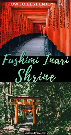 How To Have The Best Experience At Fushimi Inari Shrine - Fushimi Inari Shrine is one of the most visited Shinto shrines in Japan. Learn the best time to visit Fushimi Inari Shrine and why see Fushimi Inari at night. Our guide includes recommendations on when to capture the best sunset over Kyoto right from Fushimi Inari Shrine. #fushimiinarishrine #kyoto #japan