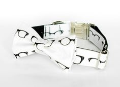 Bow Tie Dog Collar Retro Glasses by TheRoverBoutique on Etsy, $40.00