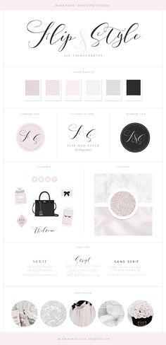 Pretty brand design ♡ Flip & Style