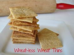 Wheat-less Wheat Thins from Attune foods.Simply Sugar and Gluten Free Wheat Free Recipes, Sugar Free Recipes, Gluten Free Recipes, Gluten Free Crackers, Gluten Free Treats, Gluten Free Cooking, Vegan Gluten Free, Paleo, Foods With Gluten