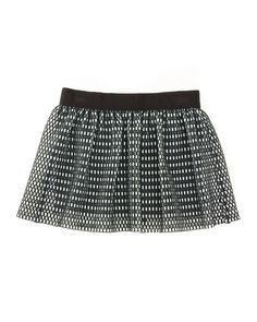 Couture Mesh Skirt, Black/White, Size 8-14, Women's, Size: 14 - Milly Minis