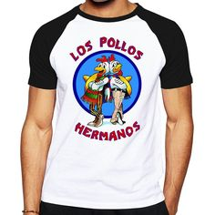 Cheap los pollos hermanos, Buy Quality pollos hermanos directly from China t-shirt top Suppliers: Brand Quality Breaking Bad LOS POLLOS HERMANOS t shirt Tees Distressed Walter White Heisenberg AMC TV Show T-shirt Tops For Men Breaking Bad, Geile T-shirts, Walter White, Tee Shirts, Tees, Great T Shirts, Black And White, Heisenberg, Mens Tops
