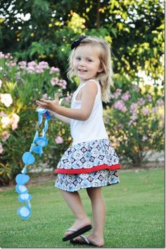 Thrift-Tee Dress.  Use a tshirt and 1/2 yard fabric to create this comfy summer dress