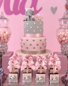 🐘💗🎂 Elephant cake. Baby shower girl #elephantcake #elephantparty