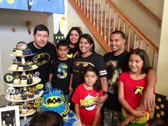 Batman theme birthday boy & fam!