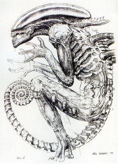 Concept art for Alien3 by Mike Worrall This is pretty awesome image via photobucket.com