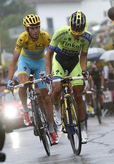 Tour de France 2014. 8^Tappa, 12 luglio. Tomblaine > Gérardmer La Mauselaine. Alberto Contador (1982) e Vincenzo Nibali (1984)