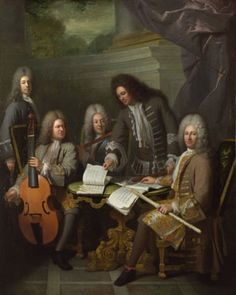 """""""Le Barre and Other Musicians"""" by André Bouys,1710 - National Gallery, London."""