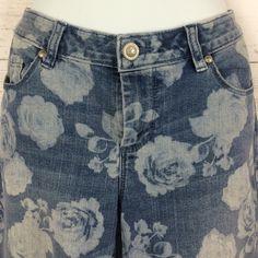 "Lauren Conrad Corp printed jeans Lauren Conrad Corp printed jeans Sz 10  inseam 28"" Lauren Conrad Jeans Ankle & Cropped"