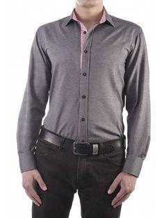 Een mooi grijs getailleerd overhemd van het merk Vegea.