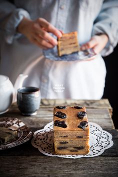 Thousand Layer Cake / Spekkoek / Lapis Legit. Lapis legit is popular Indonesian cake that is characterized by its 10-20 thin layers of rich, moist, and buttery cakes flavored with spices and studded with flattened prunes.