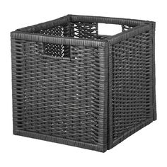 The handwoven rattan gives each basket a distinct and natural expression. This stable basket has many potential uses and is dimensioned for KALLAX shelving, giving it a unique look and function. Ikea Closet Doors, Ikea Closet Organizer, Small Storage, Storage Boxes, Storage Ideas, Rattan, Kallax Shelving, Wood Hinges, Bedroom Colour Palette