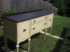 Painted bottom, stained top and great tutorial...